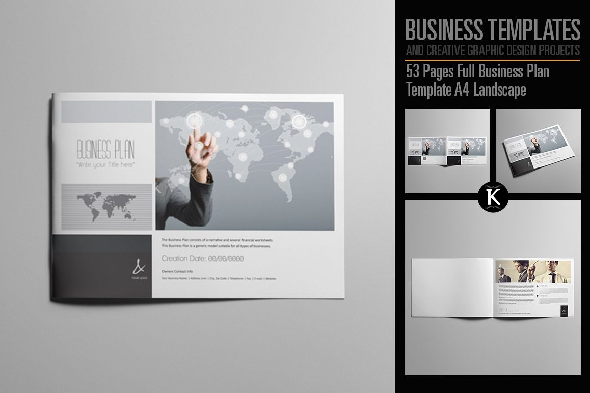 53 pages full business plan template design bundles 53 pages full business plan template a4 landscape example image accmission Gallery