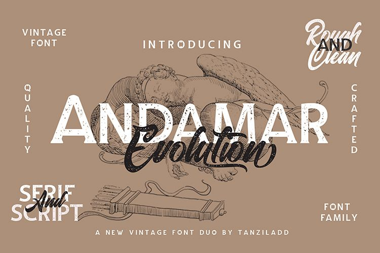 Andamar Font Family example image