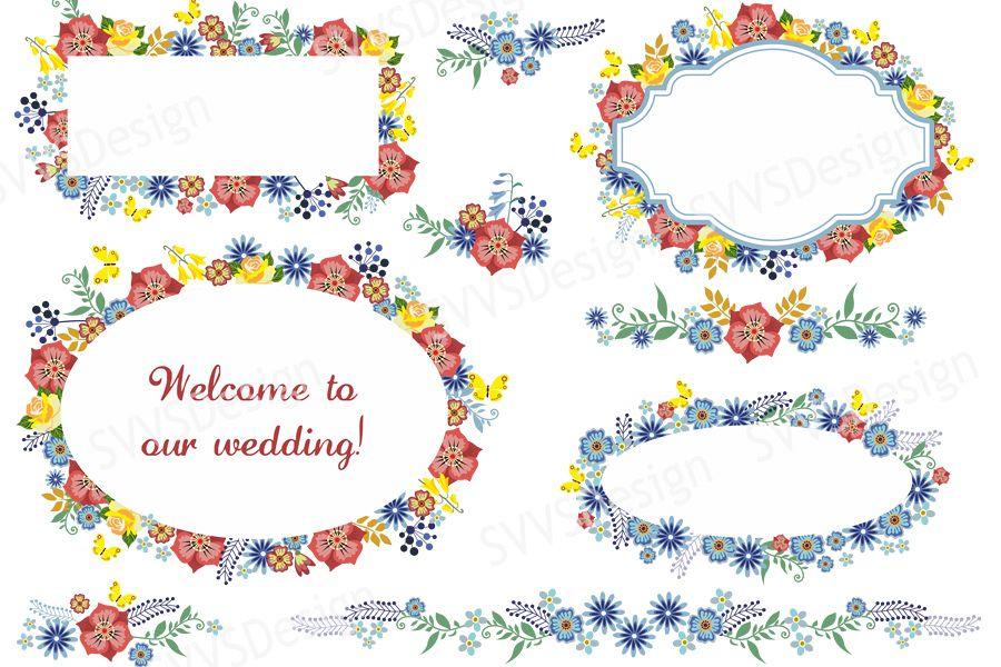 Bundle wedding party decorations clipa design bundles bundle wedding party decorations clipart vector svg png vr junglespirit Images