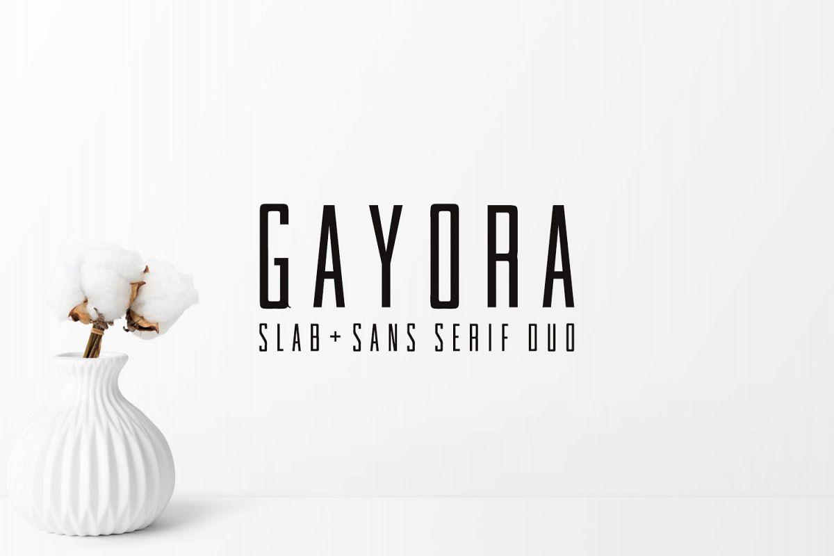 Gayora Slab Serif | Duo Font example image