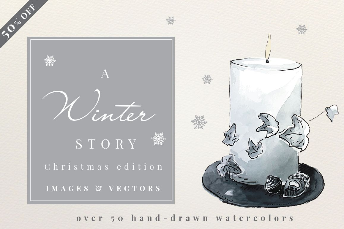 A Winter Story - Watercolors example image