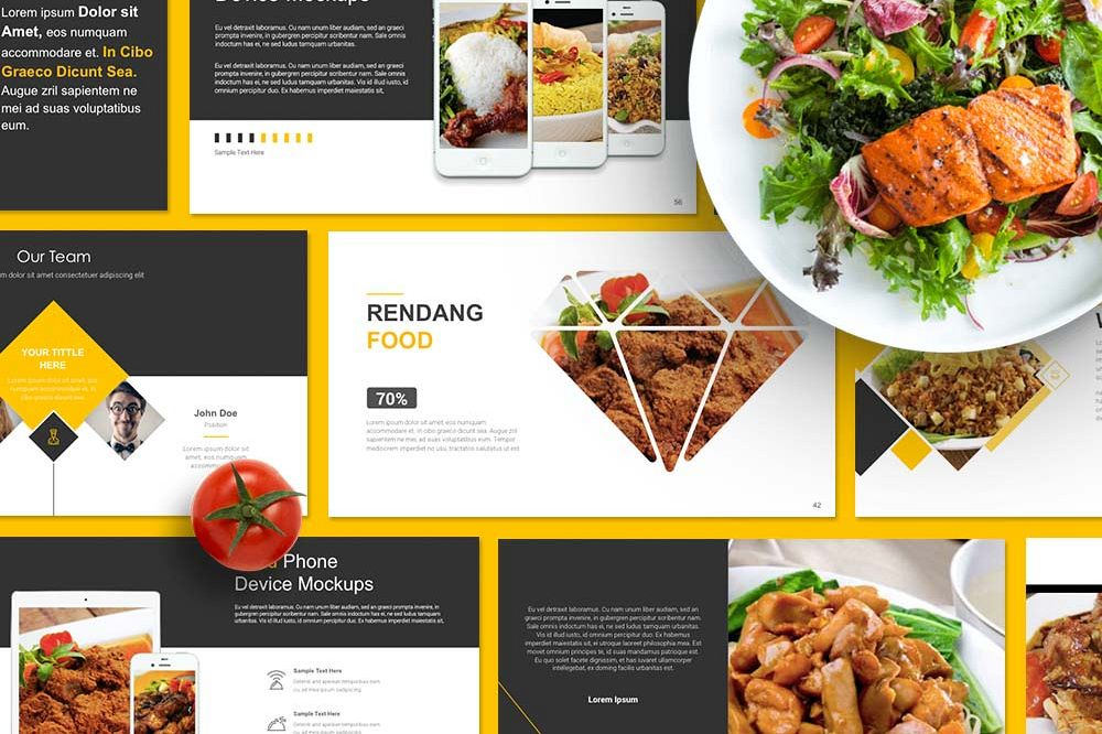 Food presentation powerpoint by brandea design bundles food presentation powerpoint example image forumfinder Image collections