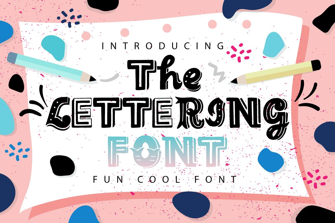 The Lettering Font example image