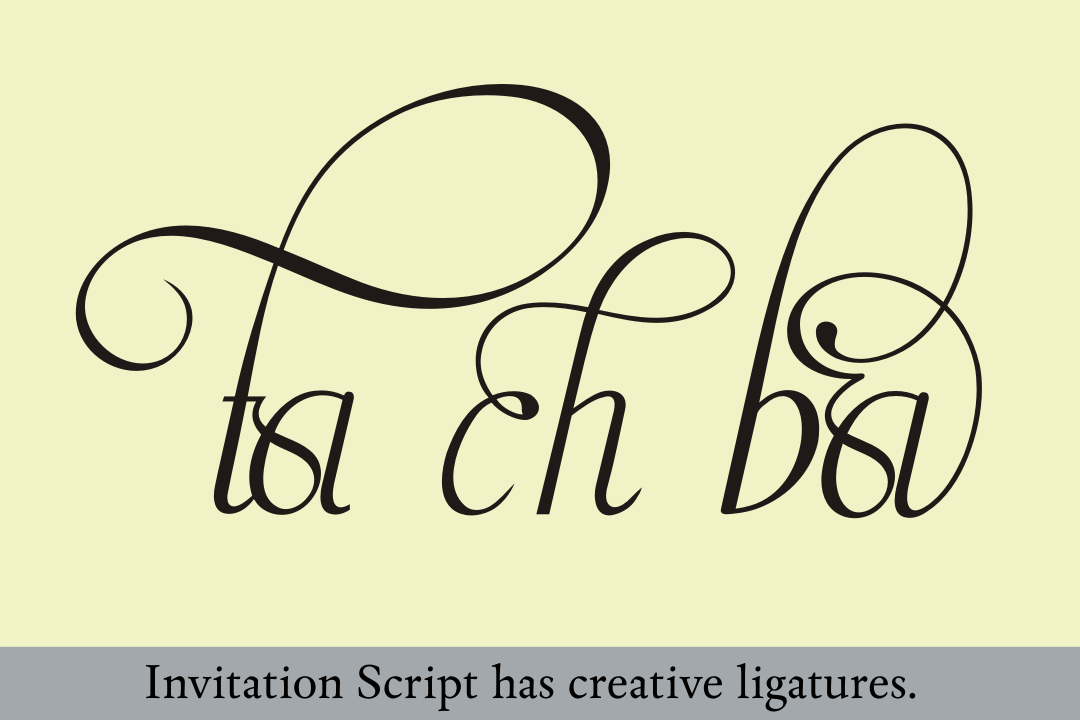Invitation Script Pack (4 fonts) example image 21