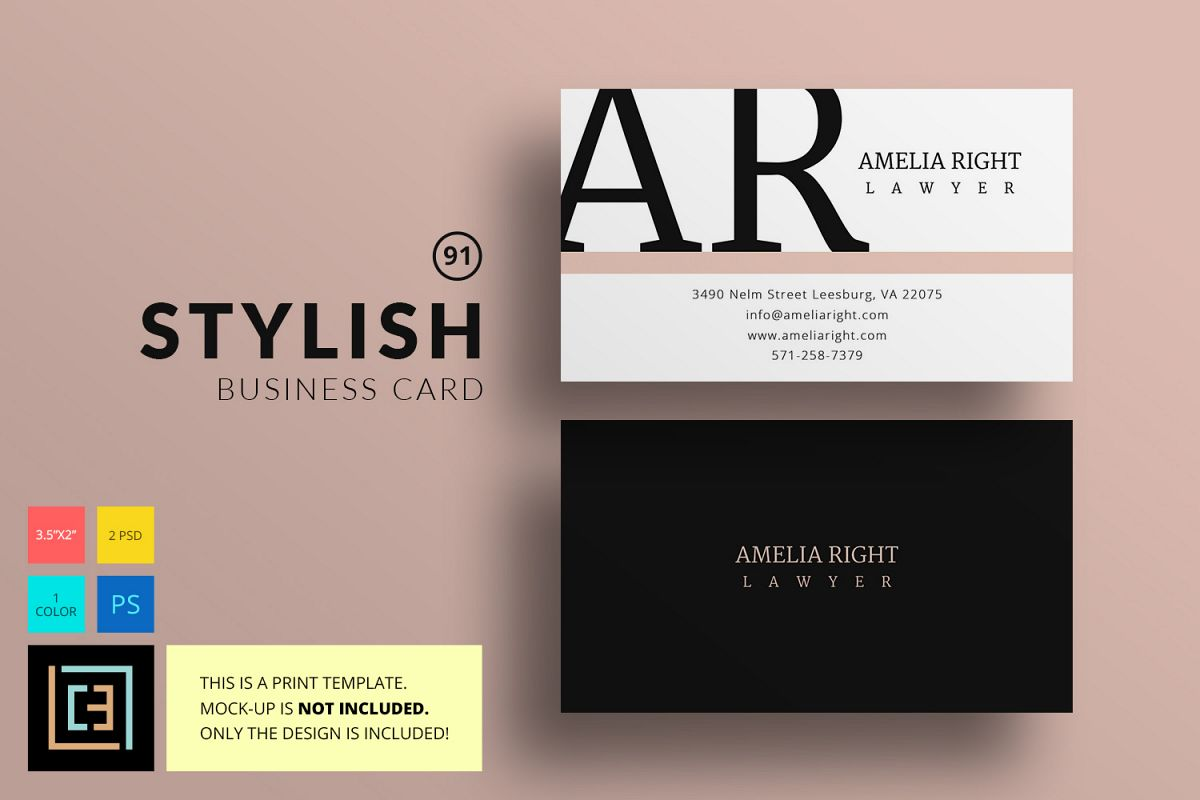 Stylish Business Card - BC091 by Cooled | Design Bundles
