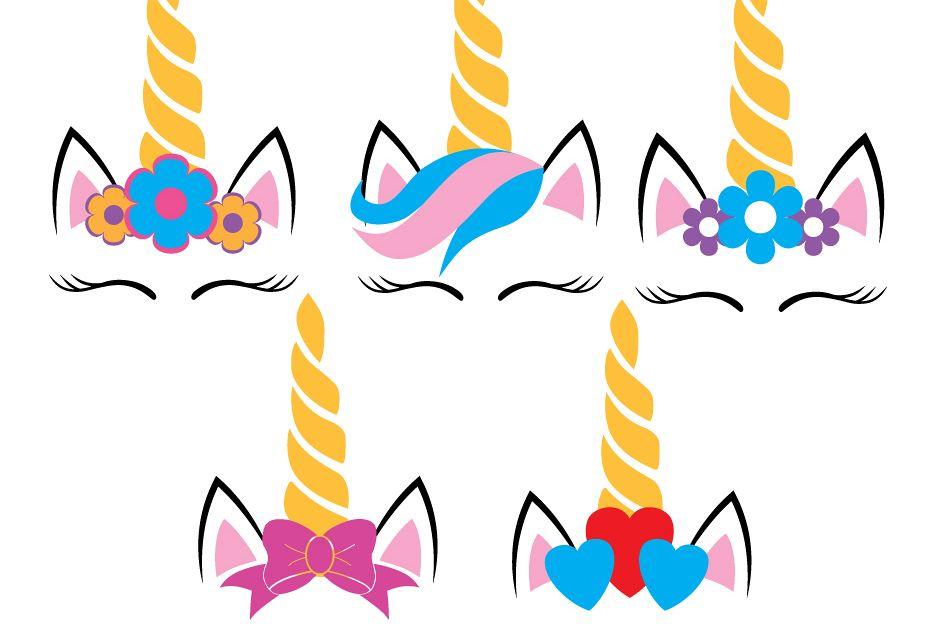 Five Unicorns SVG example image
