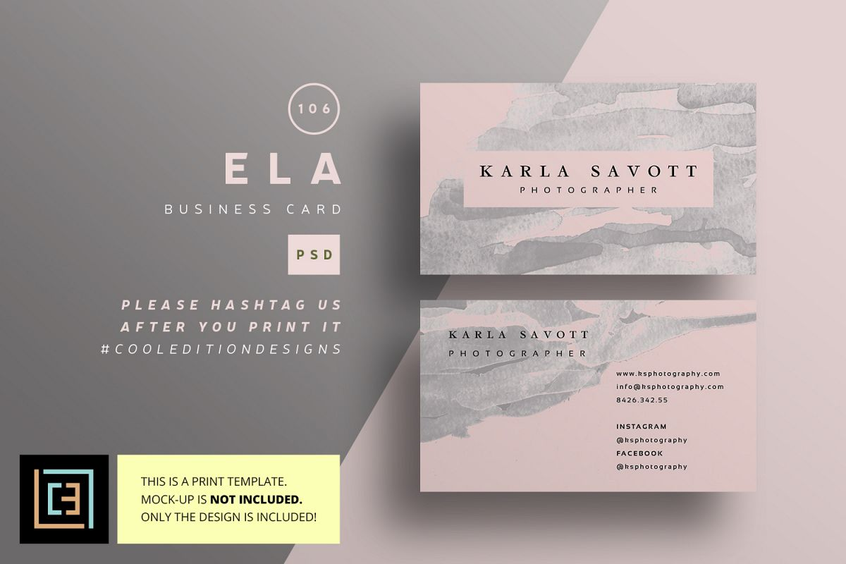 Ela business card bc106 by cooledition design bundles ela business card bc106 example image reheart Images