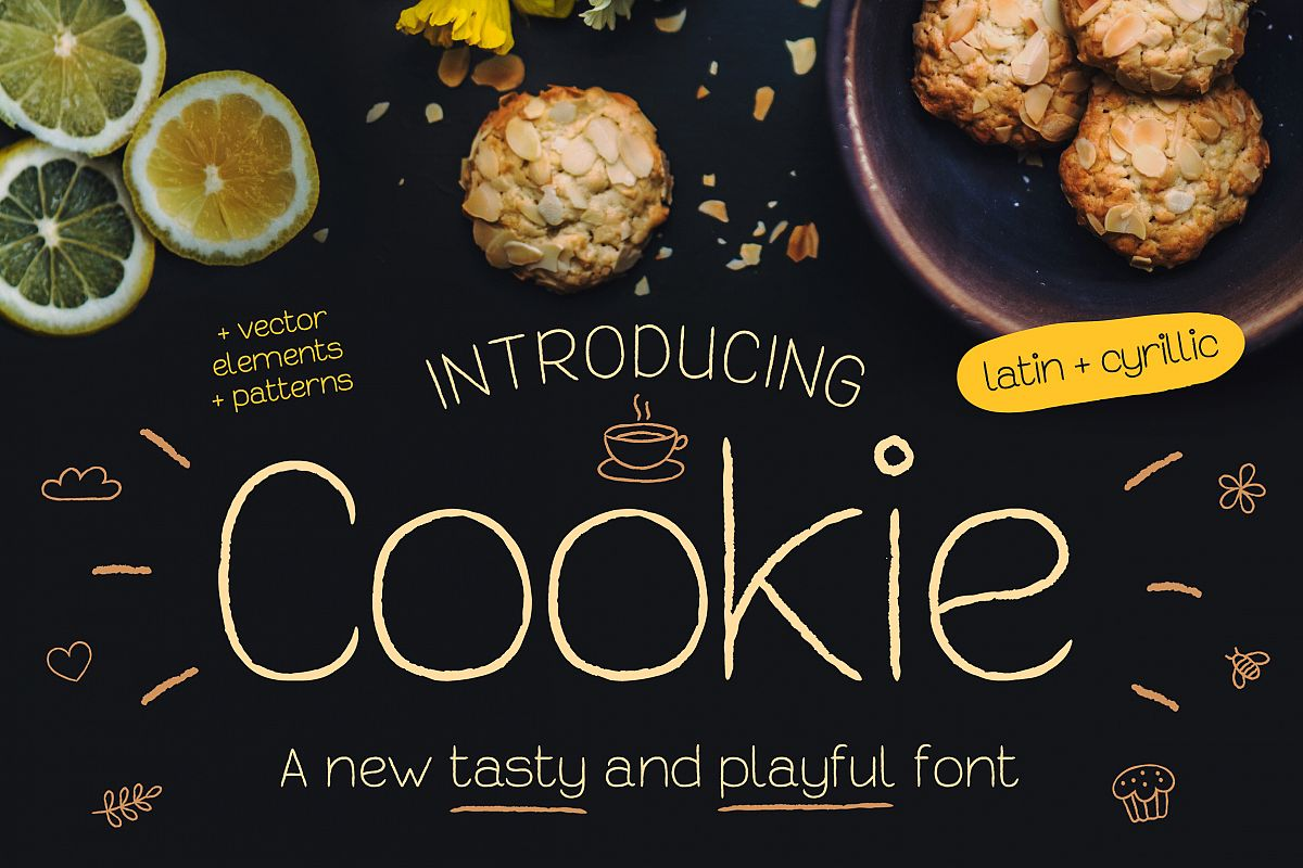 Cookie Font example image