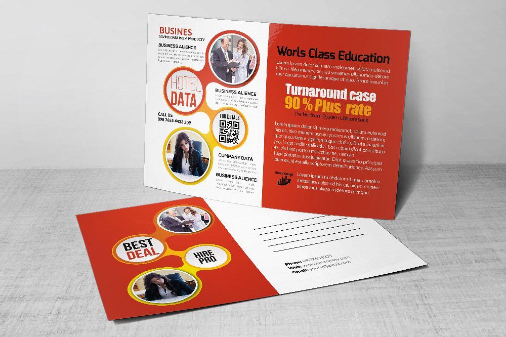 Business Postcards print Template by De | Design Bundles