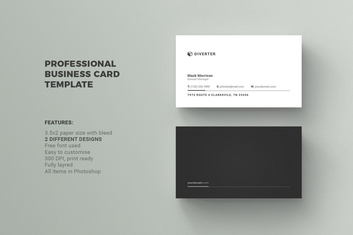 Business card by diverter design bundles business card example image reheart Image collections