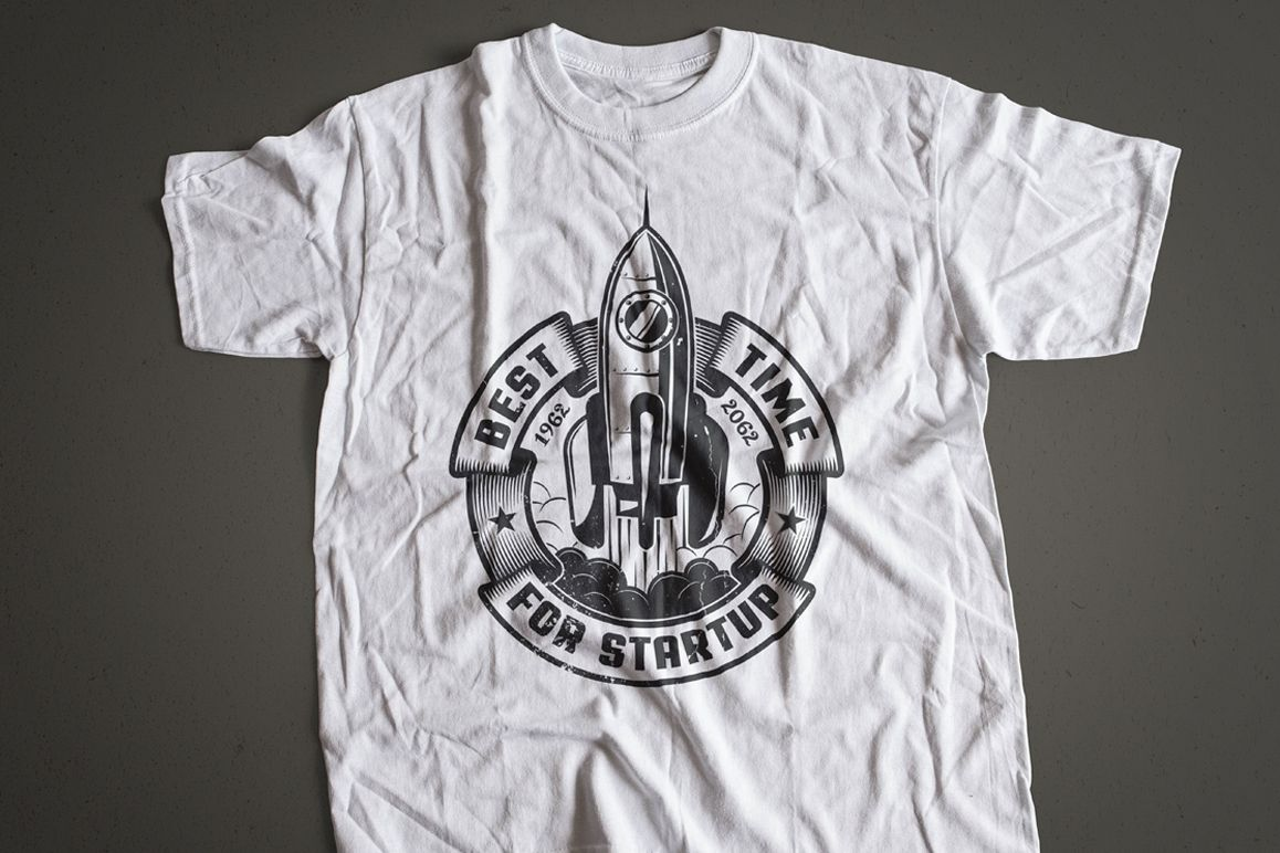 Startup Rocket Retro Logo example image 6