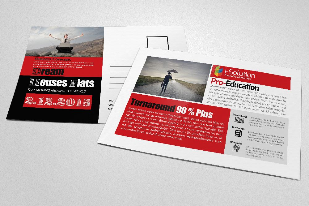Insurance Business Postcards by Designh | Design Bundles