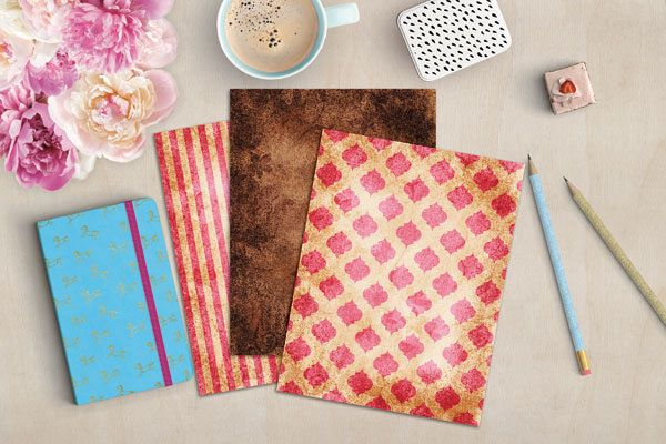 Pink and Brown Digital Journal Papers example image 3