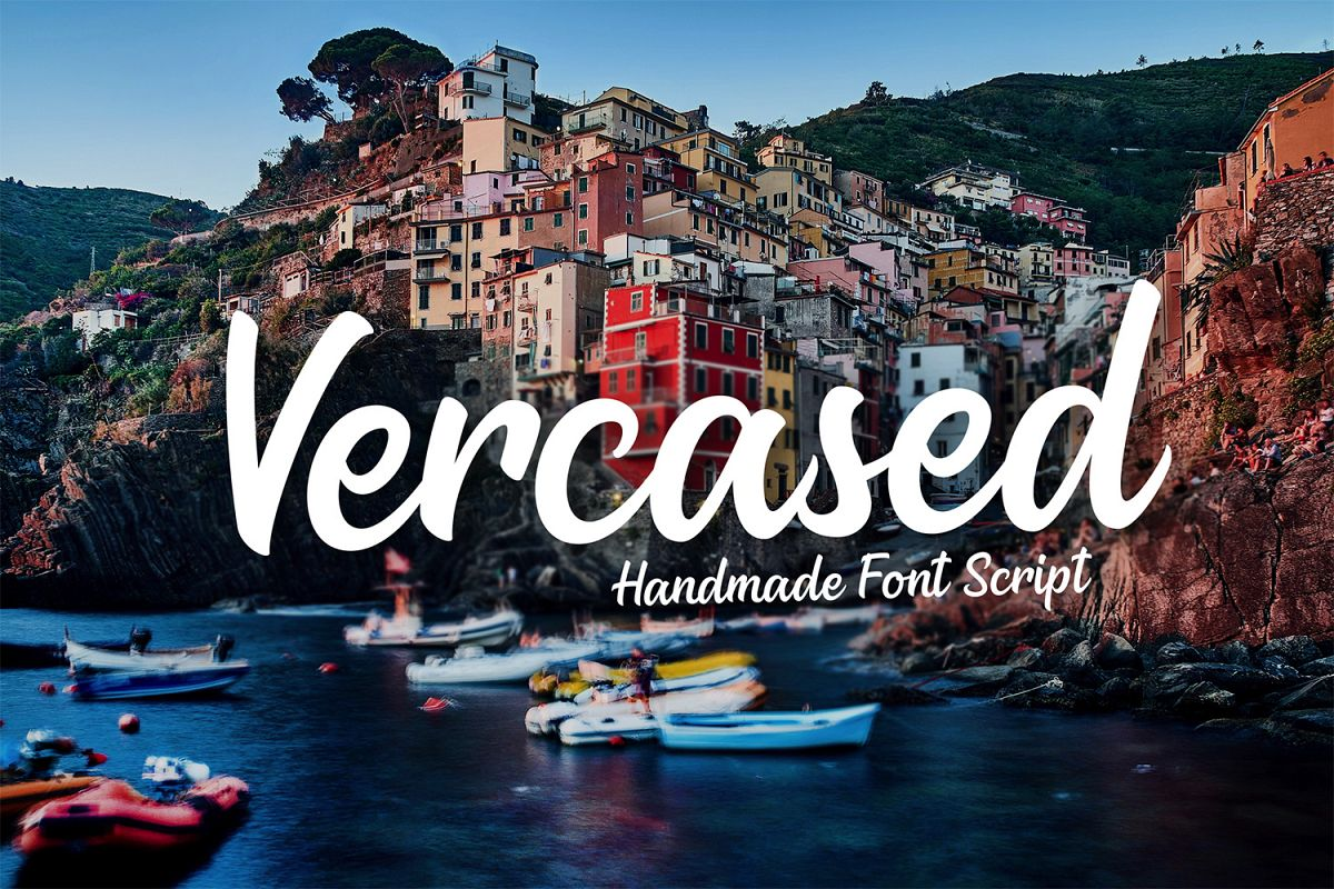 Vercased - Handmade Font example image