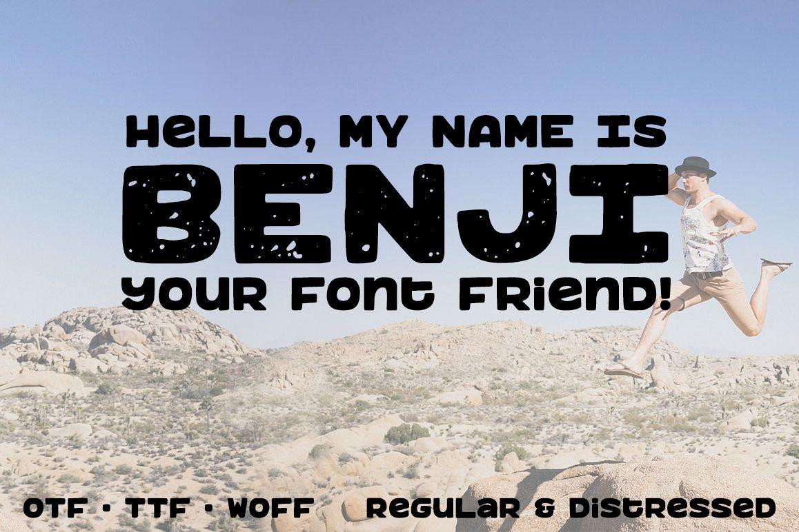 Benji: a bold, fun monospace font! example image
