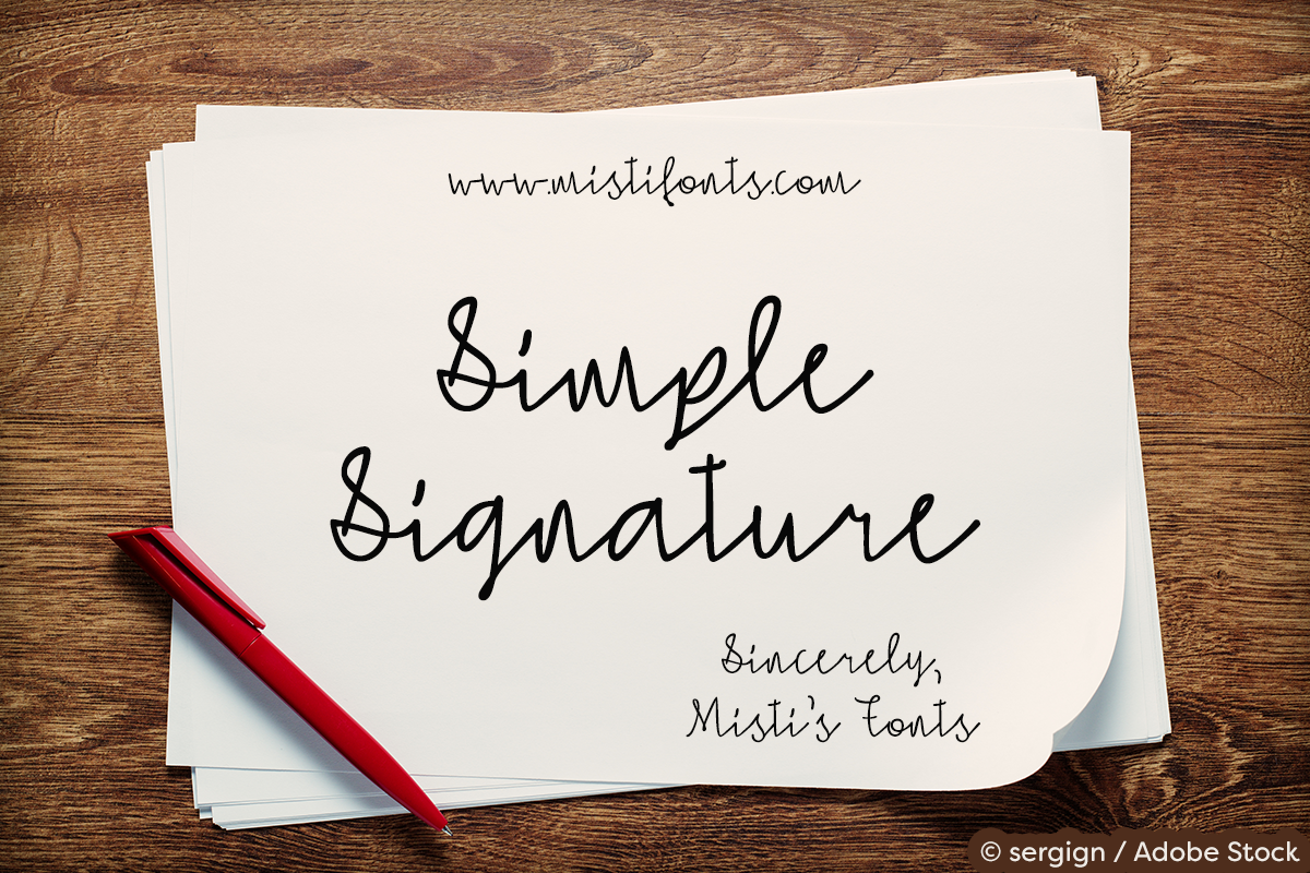 Simple Signature example image