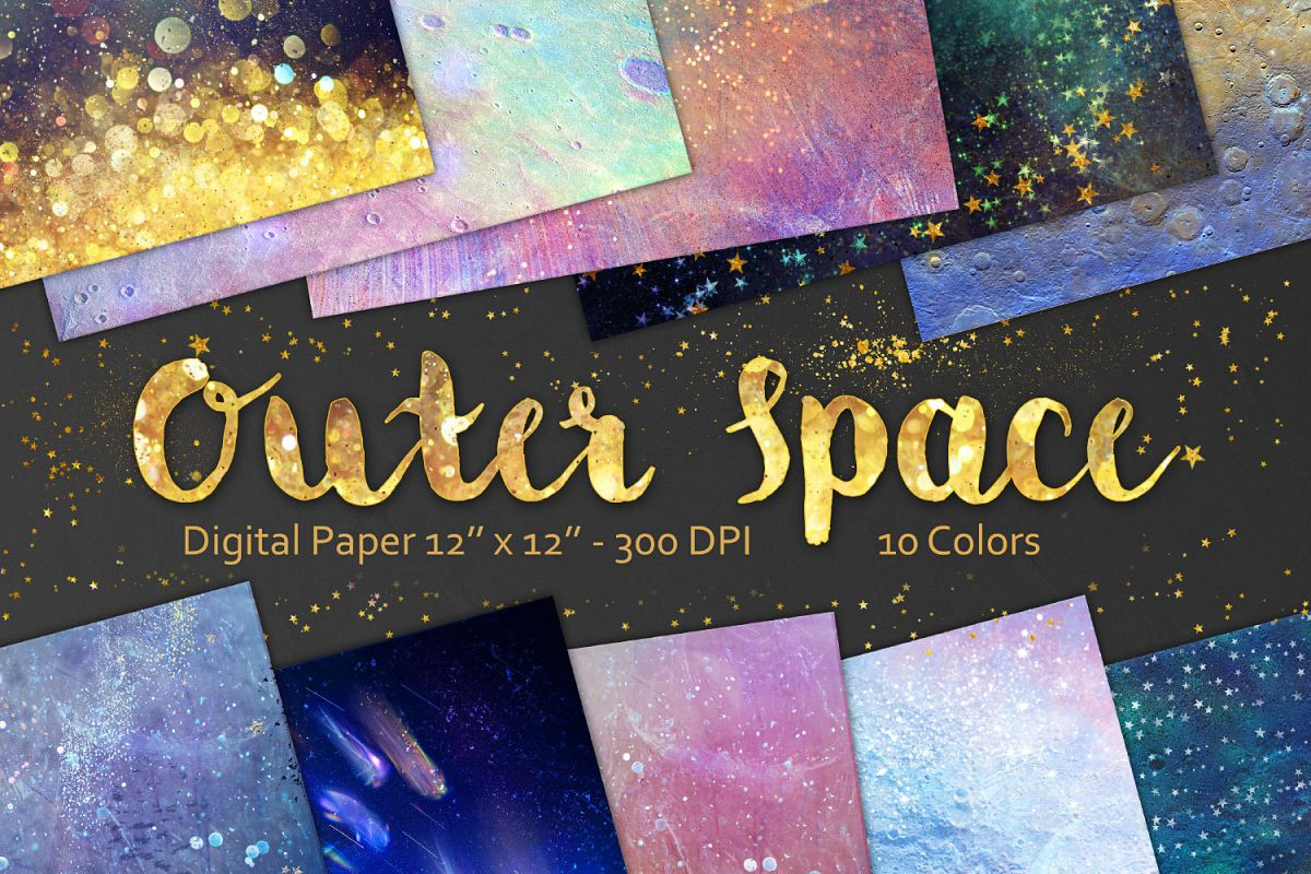 Outer Space Backgrounds example image