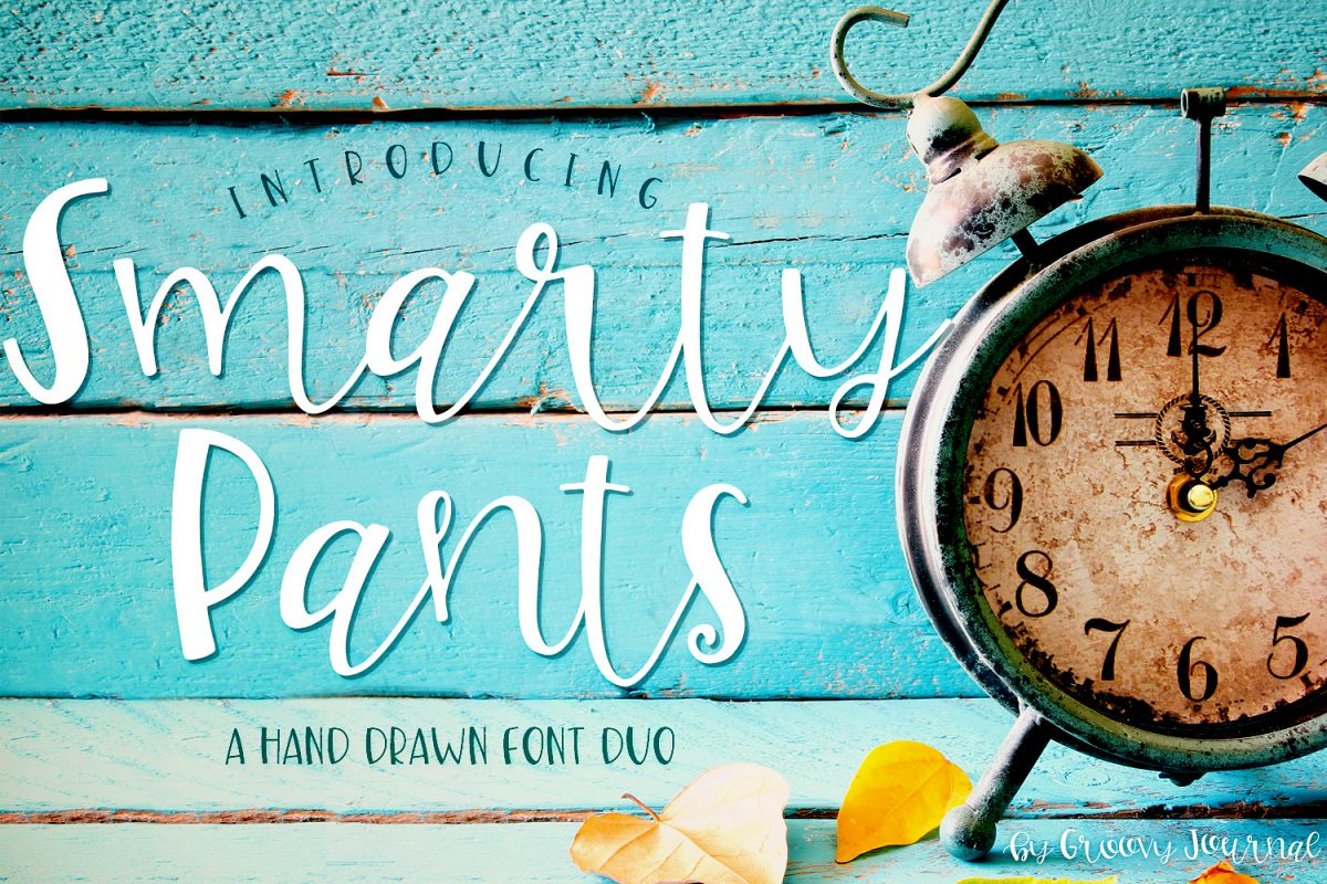 Smarty Pants Font Duo example image