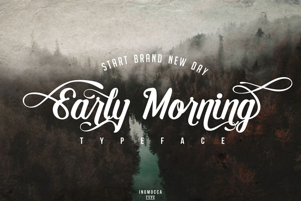 Early Morning Typeface example image