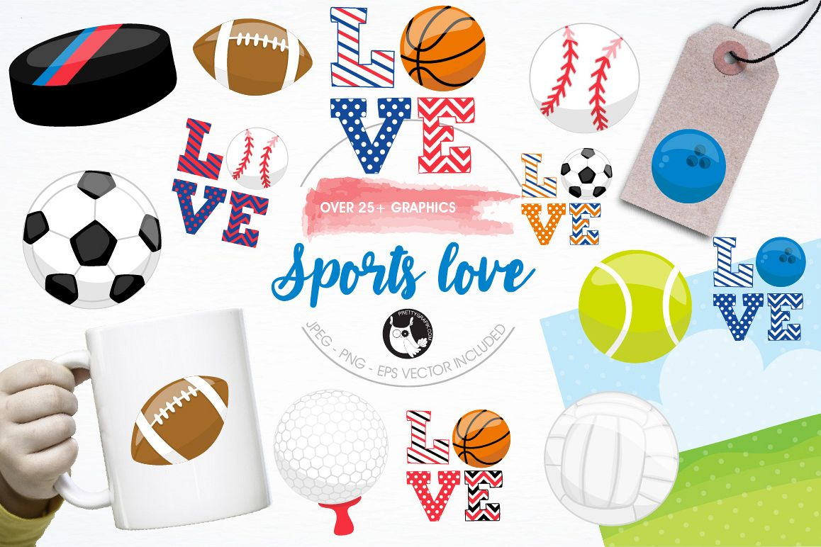 Sports love graphics and illustrations example image