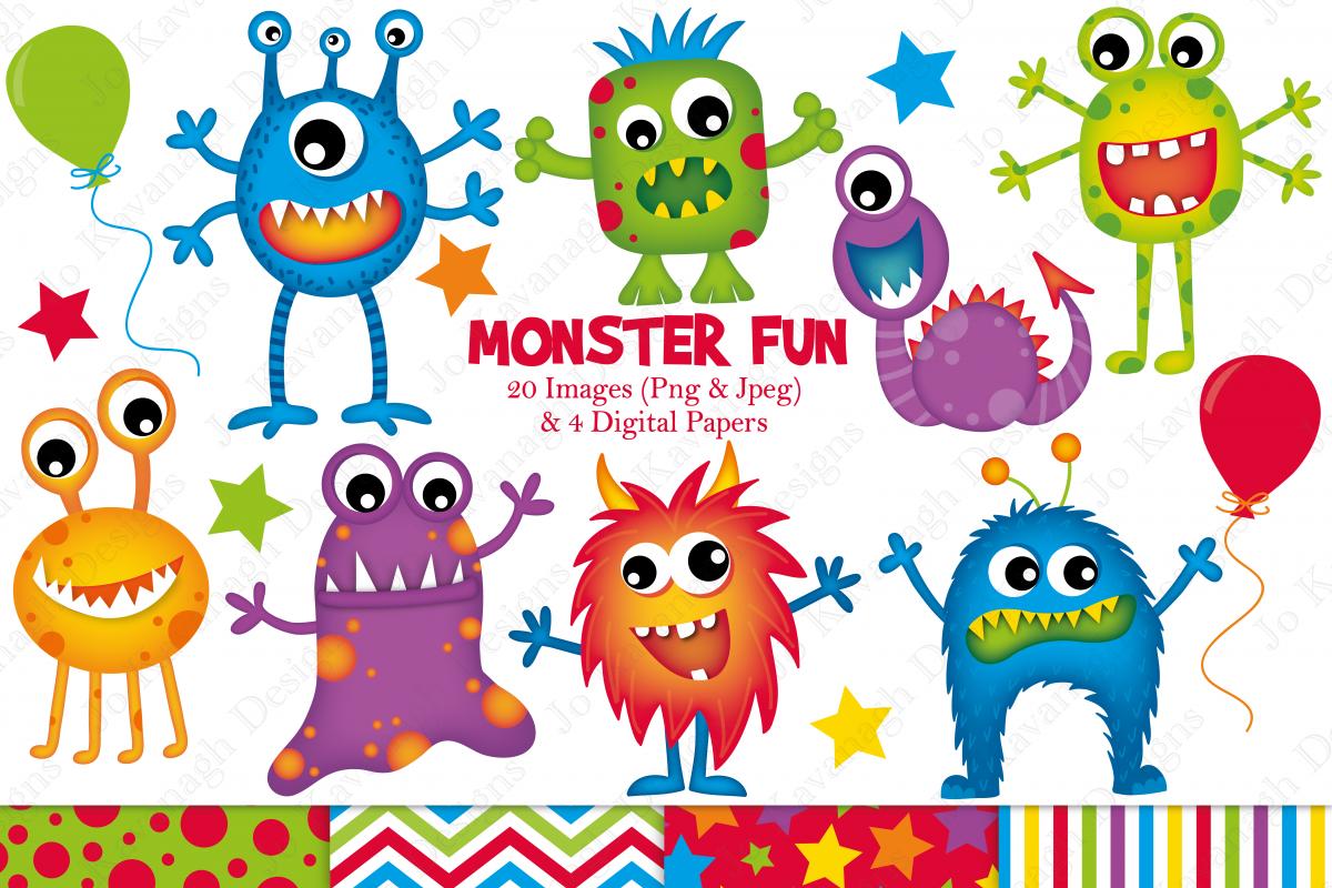 monster graphics illustrations monst design bundles rh designbundles net monsters clipart monsters clipart
