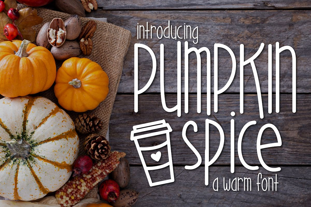 Pumpkin Spice a Warm Font example image