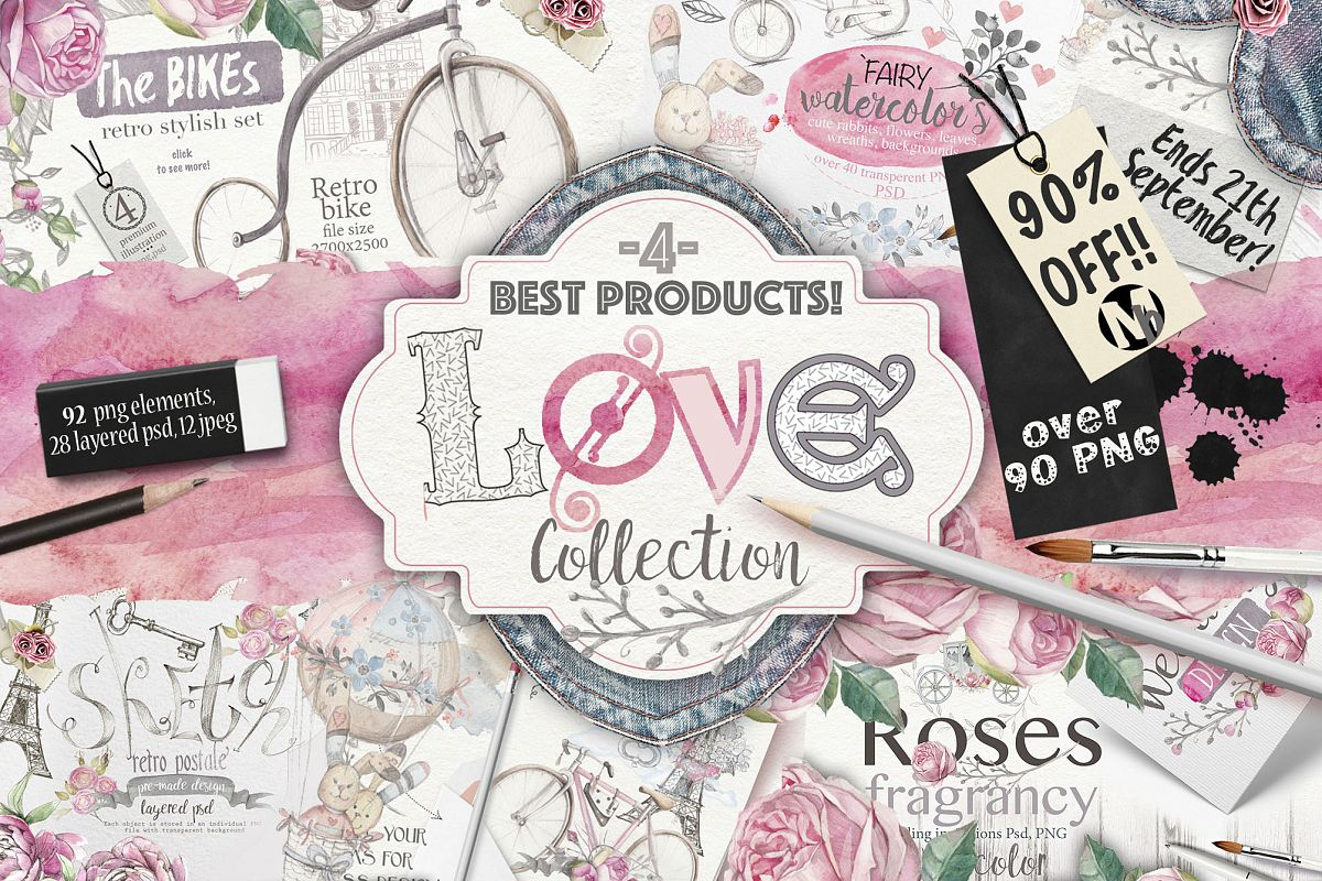 90%OFF ! Love collection 90 PNG elements example image