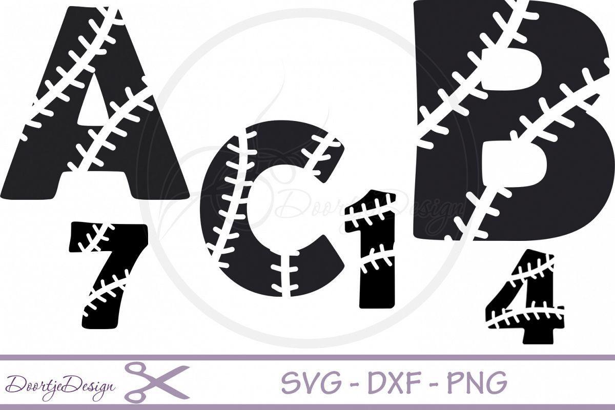 Baseball Alphabet svg files example image