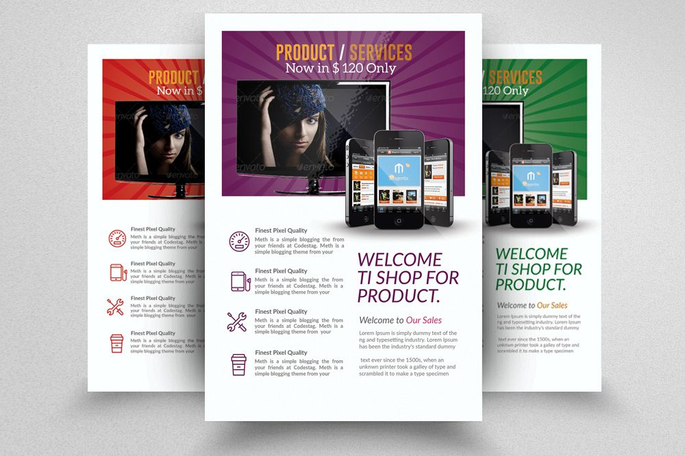 product promotion flyer template example image