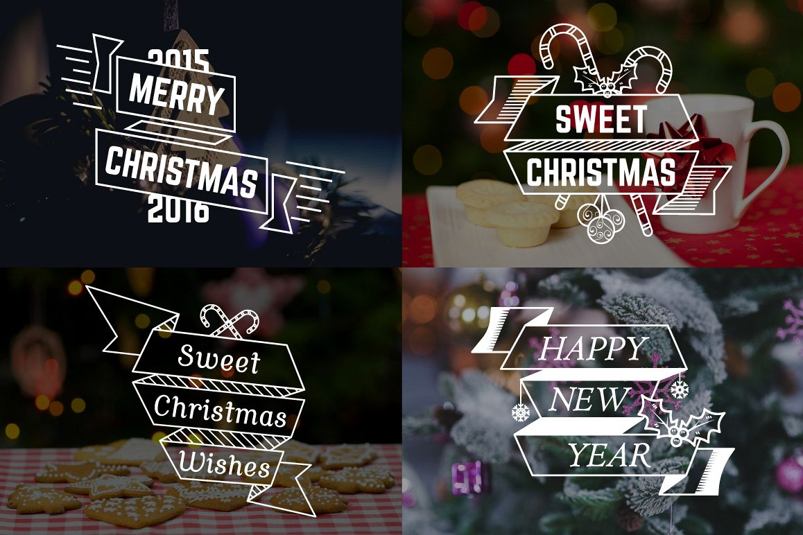Christmas & New Year Labels & Badges example image 3