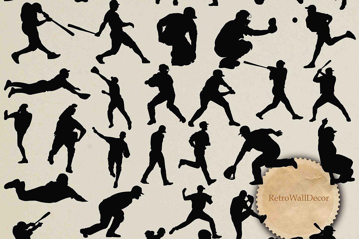 Baseball Silhouettes example image