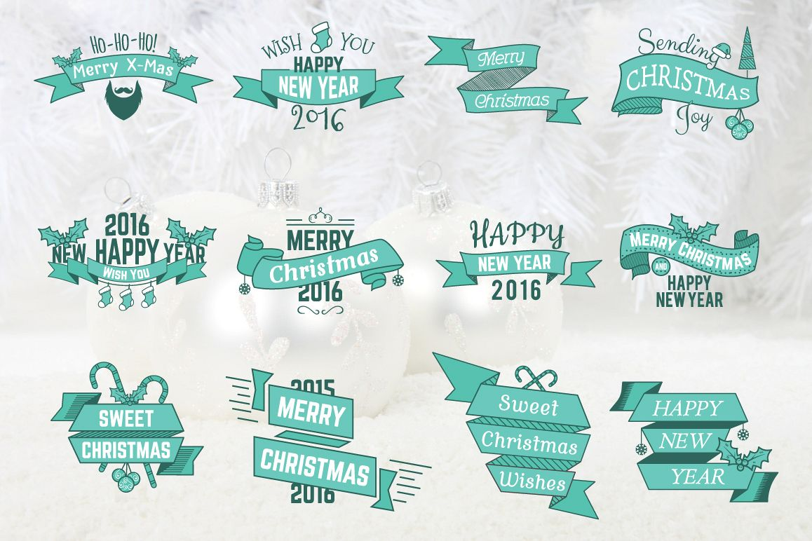 Christmas & New Year Labels & Badges example image 5