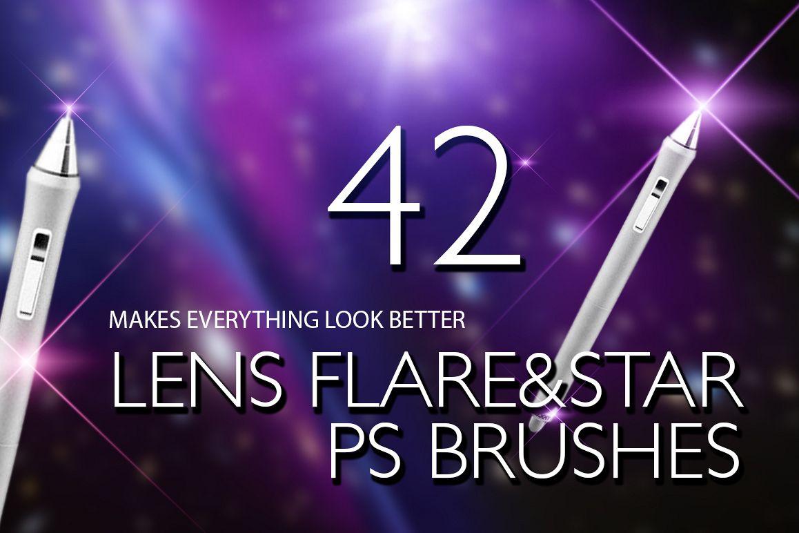 Lens Flare & Stars Photoshop Brushes example image