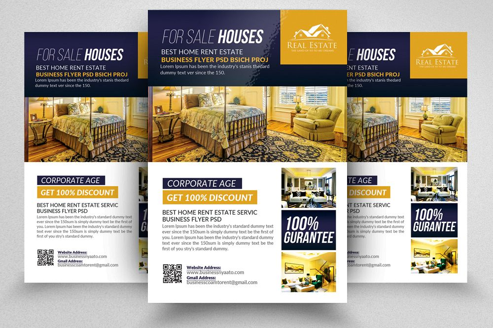 Amazing Real Estate Flyers Templates Example Image