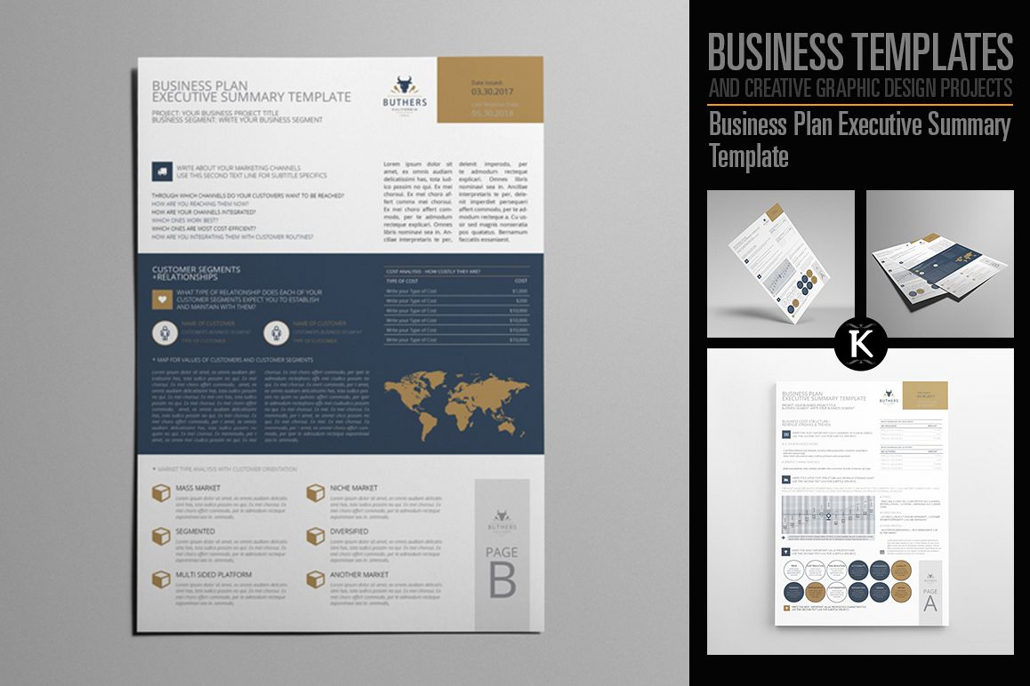 Business plan executive summary templat design bundles business plan executive summary template example image wajeb