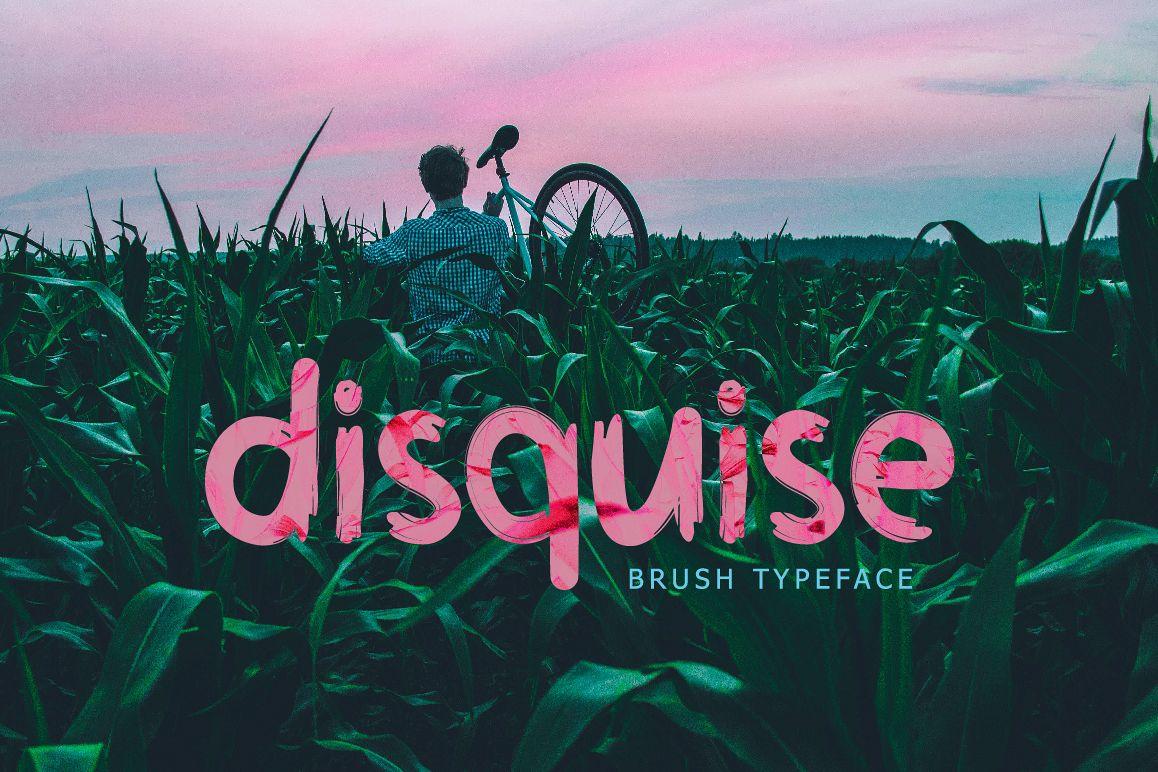 Disquise Brush Typeface example image