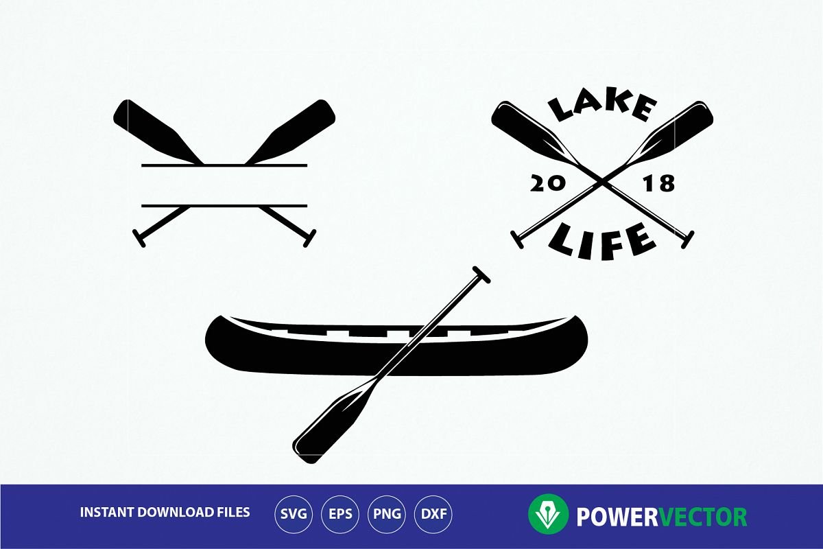 Canoe Boat Paddles Clip Art Example Image