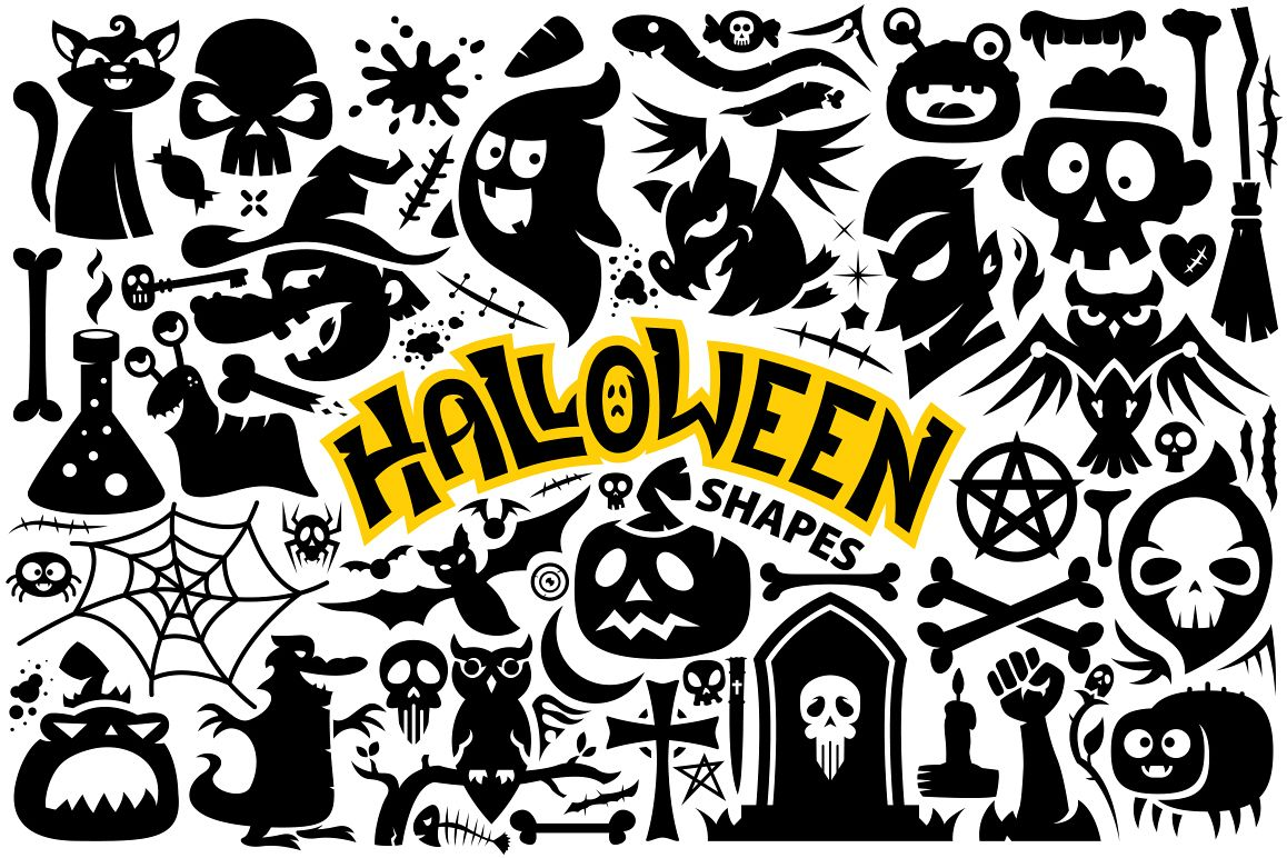 Halloween Vector Shapes Collection example image