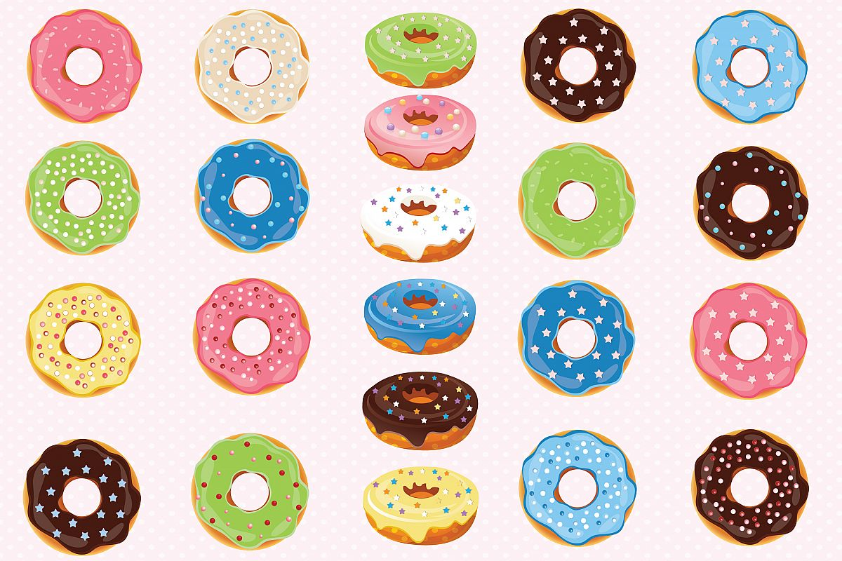 donuts clipart donuts graphics by prem design bundles rh designbundles net donuts clipart transparent donut clipart cute