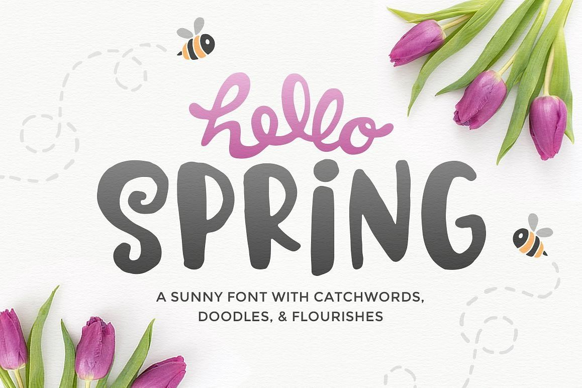 Hello Spring Font example image