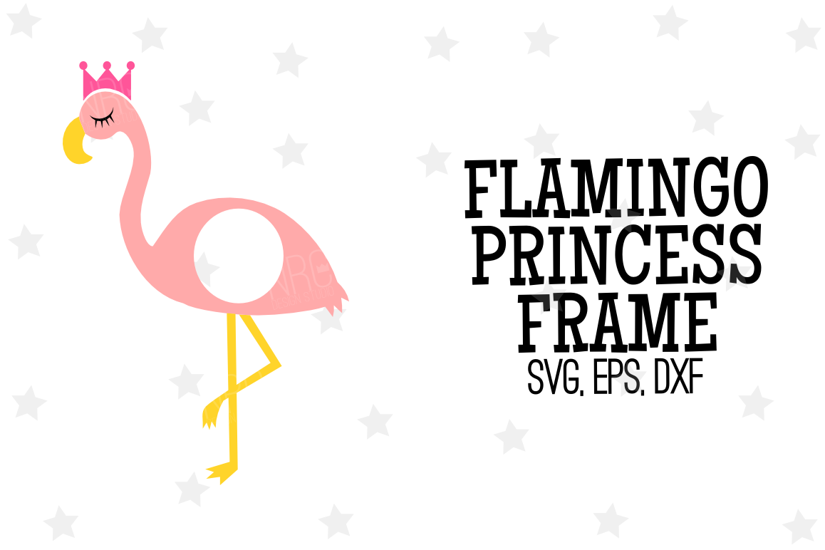 Flamingo Princess Frame SVG File by NRC | Design Bundles