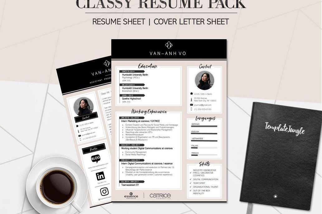 Modern Resume Template Pack - CLASSY -   Design Bundles