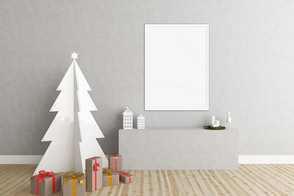 Christmas interior mockup bundle - blank wall mock up example image