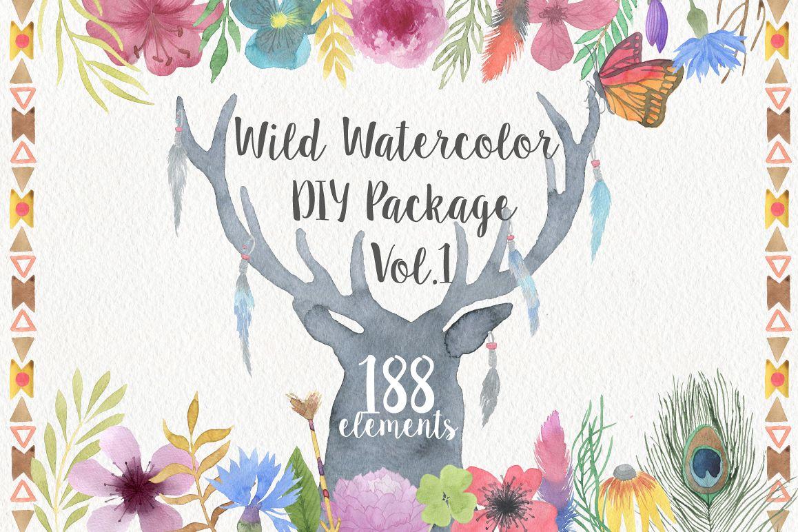 Wild Watercolor DIY example image