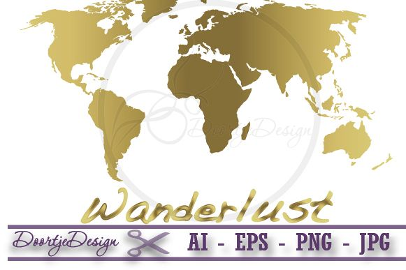 World map gold vector by doortjedesign design bundles viewing product world map gold vector gumiabroncs Images