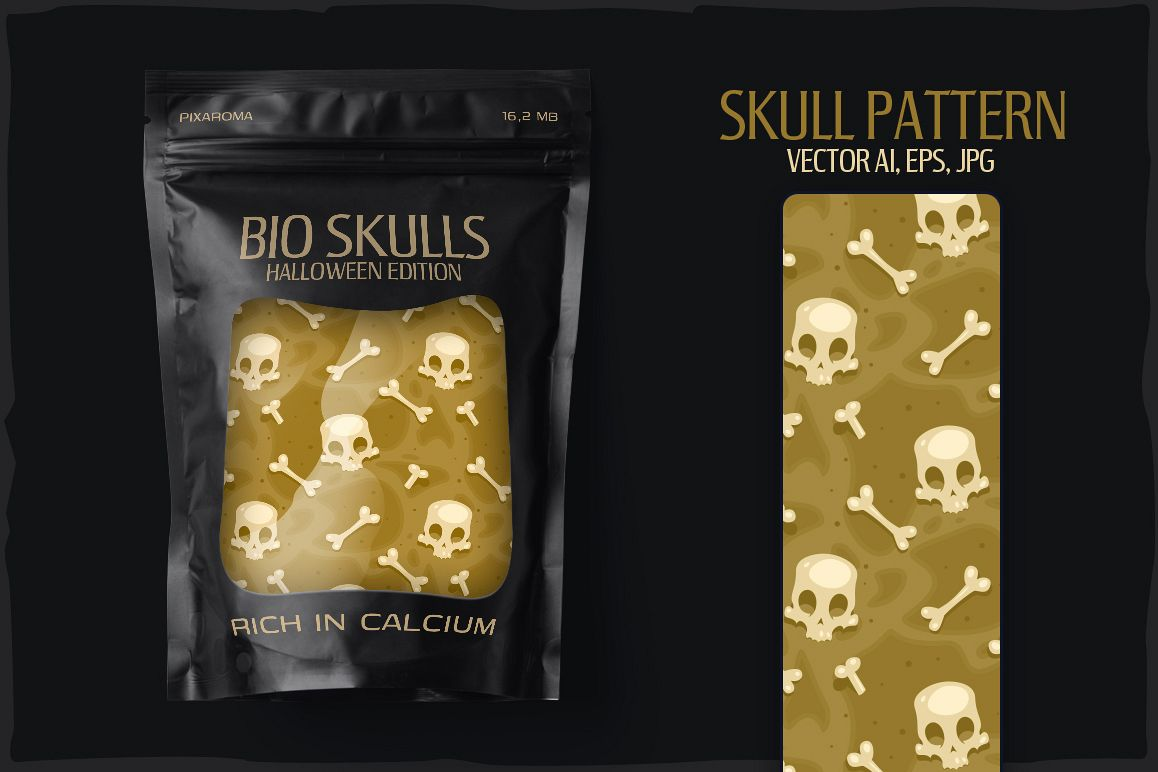 20 Skull Seamless Vector Patterns example image 7
