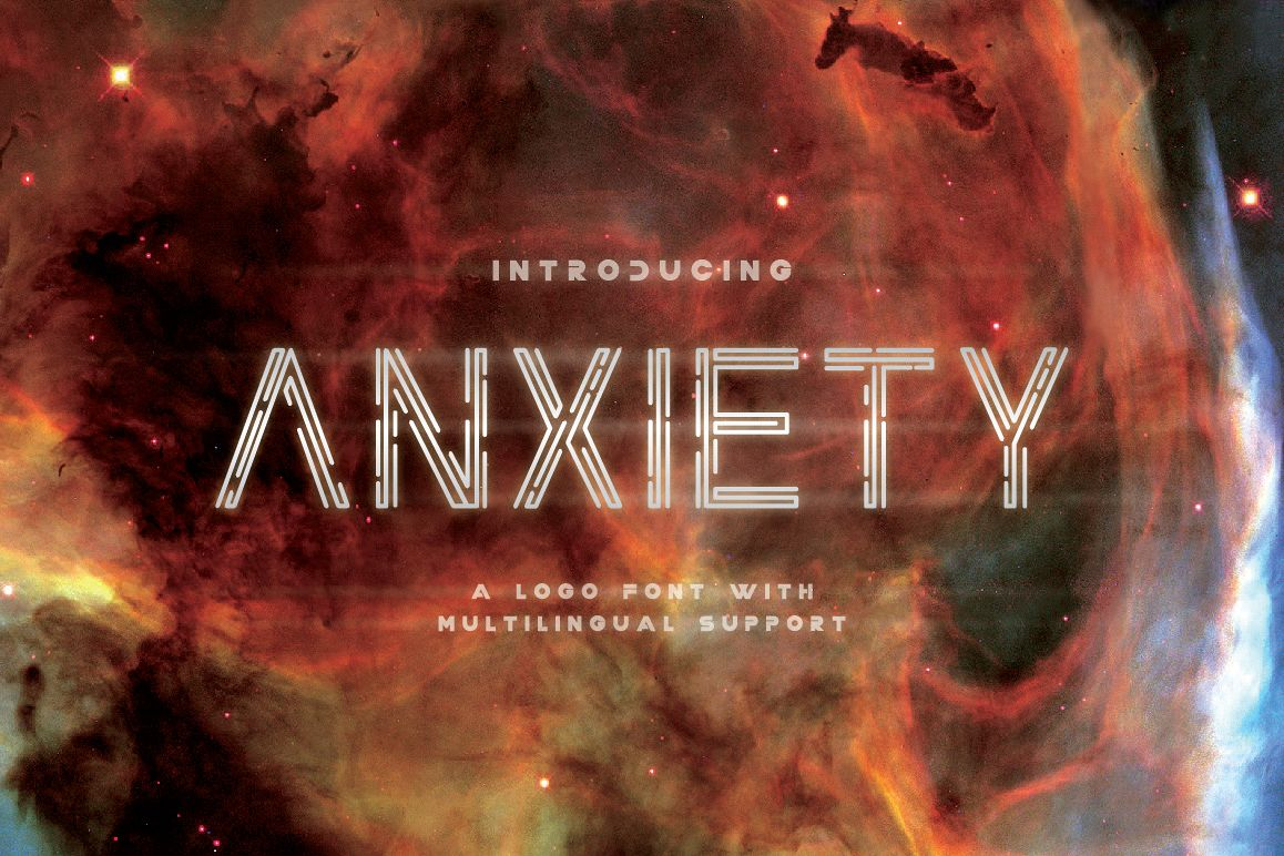 Anxiety Font example image