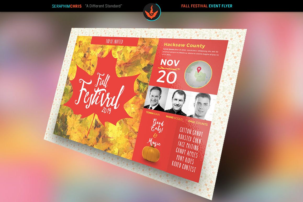Fall Festival Holiday Flyer Template by | Design Bundles