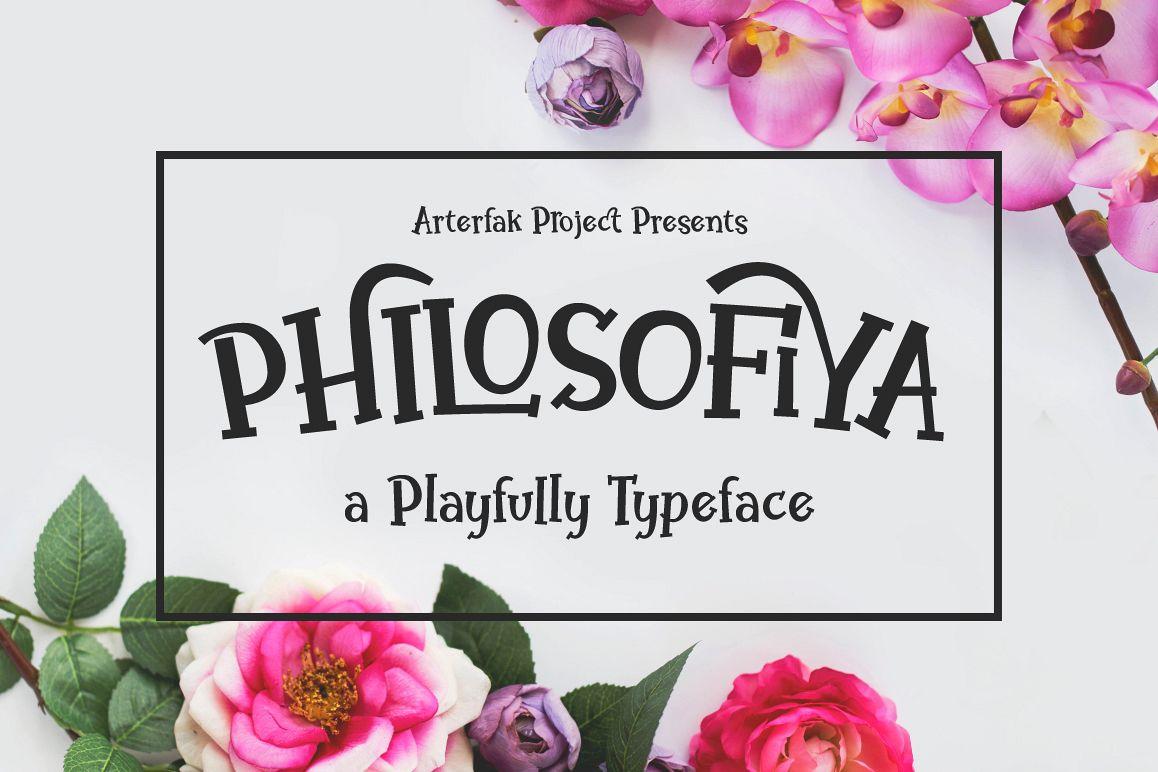 Philosofiya Typeface example image
