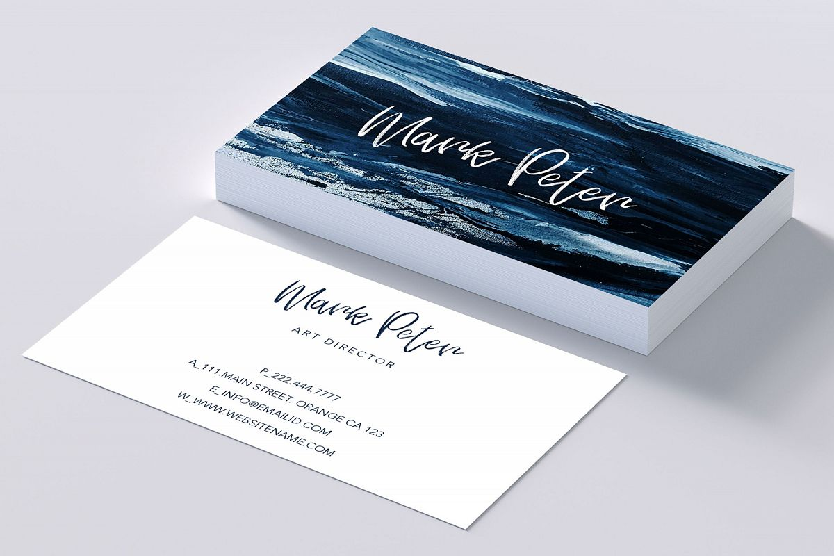 Art canvas effects business card by Cre | Design Bundles